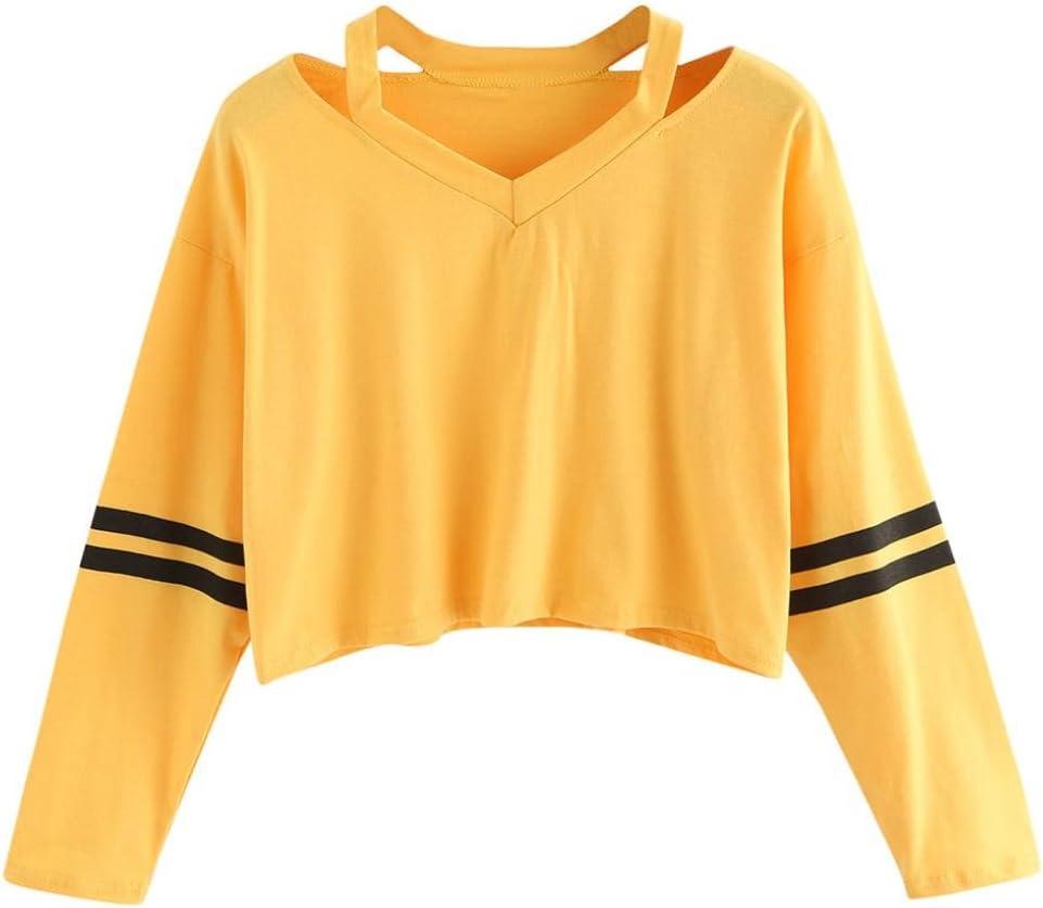 XL, Vert LMMVP Femme Imprim/é Sweatshirt Femmes Manche Longue Spandex en Coton Solide Sweat /à Capuche Pullover Sweat-shirt