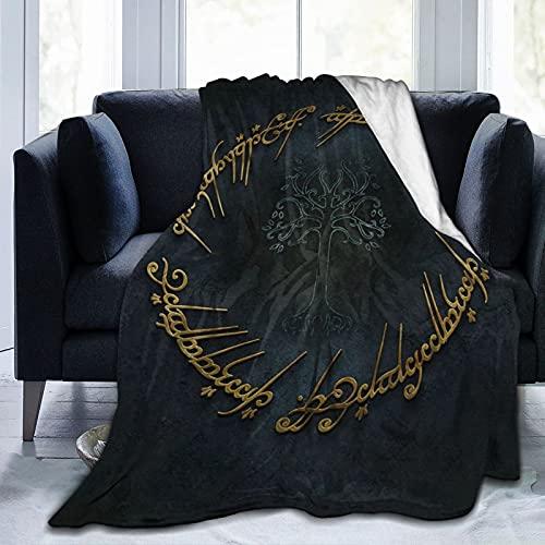 Yuanshan Lord Rings Coperta morbida, coperte leggere in pile di flanella personalizzate per divano letto per tutte le stagioni. Coperta in peluche accogliente