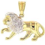 High Polish 14k Gold Lion Pendant Leo Zodiac Sign Charm