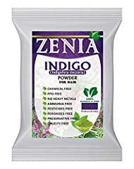 NATURAL HAIR COLOR: Zenia Natural Indigo Powder is a hair dye that is used in combination with henna powder or other herbs to achieve a range of permanent hair colors from red/browns, dark brown, and black. Indigo powder is great way to permanently d...