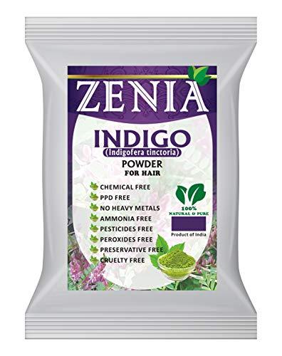 Zenia Indigo Powder (Indigofera Tinctoria) Hair/Beard Dye Color 100 grams