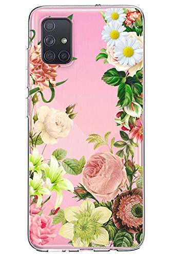 Oihxse Cristal Funda para Samsung Galaxy S8 Plus Transparente Suave TPU Flores Girasoles Amarillos Dibujo Diseño Serie Carcasa Flexible Bumper Anti-Choque Anti-Arañazos Protector (D7)