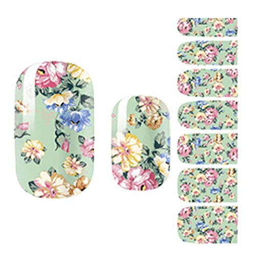 7pcs Beau Waterproof Mignon Ongles Decal pelables Nail Stickers