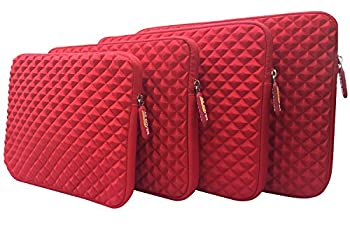 AZ-Cover 13.3-Inch Case Simplicity & Stylish Diamond Foam Shock-Resistant Neoprene Sleeve  Red  For Dell Inspiron i7359-8404SLV 13.3 Inch 2-in-1 Touchscreen Laptop