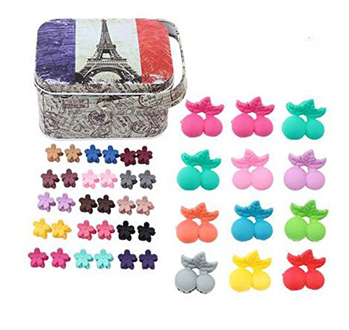 Random of Children Hairpins Lovely Hair Band and Hairpin, Clips cerises