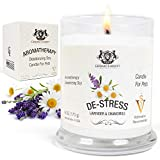 Lavender & Chamomile Aromatherapy Deodorizing Soy Candle for Pets, Pet...