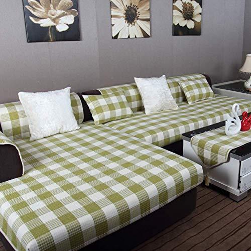 Jonist Funda de Lino para sofá, sofá seccional Antideslizante de Color sólido, Todo Incluido, combinación Universal de Cuatro Estaciones, Sala de Estar para el hogar-i 90x210cm (35x83inch)