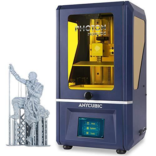 "ANYCUBIC Photon Mono SE Resin 3D Printer, UV LCD SLA 3D Printer Ultra Fast Printing with 6"" 2K Mono Screen and WiFi Function & Dual Z-axis Linear Rail, Print Size 5.12""(L) x 3.07""(W) x 6.29""(H)"