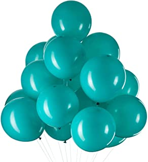 12 Inch Gifted Turquoise Balloons Helium Light Teal Latex Balloons for Birthday Party Decorations Supplies Pack of 35,Thic...