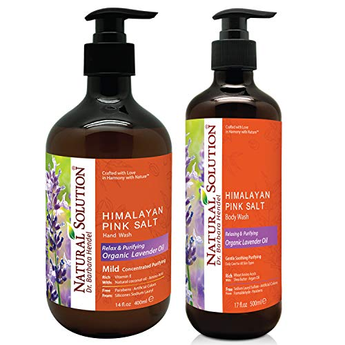 Natural Solution Himalayan Pink Salt Body Wash & Hand Wash with Natural Lavender