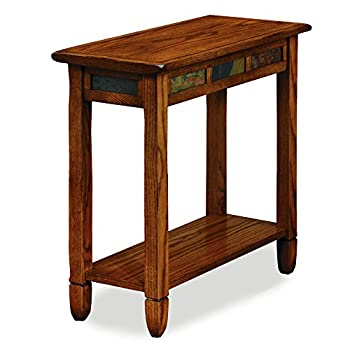 Leick Rustic Oak Chairside End Table