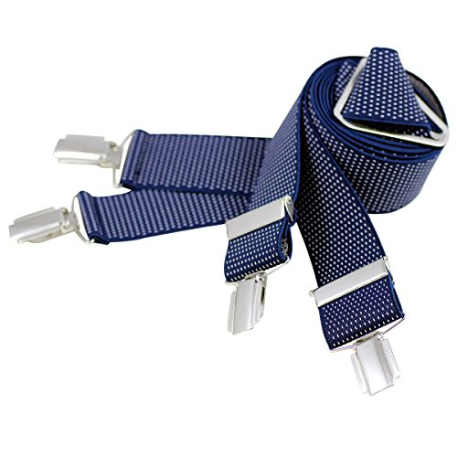 Lindenmann Mens Braces/Suspenders/mens suspenders, X-shape, 35 mm stetch, XXL, navy blue, 7545-006, Größe/Size:110