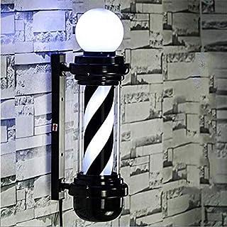 SAFGH Luz giratoria para peluquería al Aire Libre, Poste de peluquería LED, Logotipo de peluquería, luz giratoria, Rojo, B...