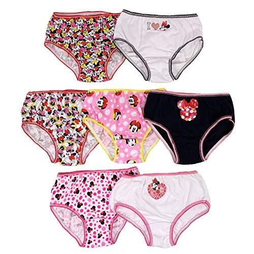 Disney Girls' Big Girls' Minnie Dots 7 Pack Panty, Assorted, 6