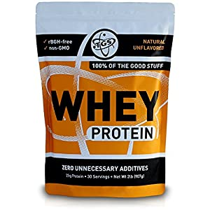 TGS All Natural 100% Whey Protein Powder – Unflavored 2lb