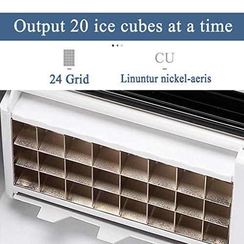 デイリー容量25KG、12〜20分で24個のアイスキューブを備えたポータブルアイスメーカーカウンタートップ、キャンプホームキッチンオフィス用のステンレス製コンパクトアイスキューブメーカーYEXIN