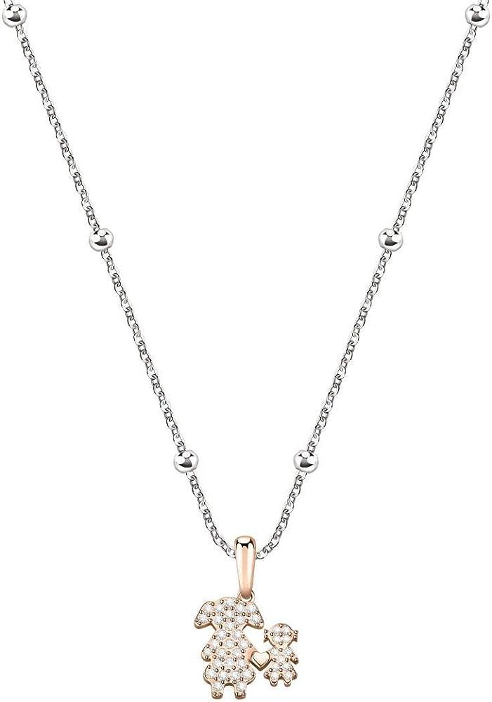 Morellato collana da donna, collezione love, in acciaio ,con ciondolo S0R15