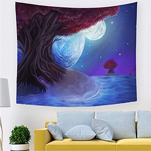 Tapiz estrellado cósmico que cuelga en el espacio exterior tapiz hippie decoración del dormitorio fondo manta de tela A3 180x230cm