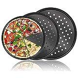 Pizzablech, antihaftbeschichtet, perforiert, für Backofen (26/28/32 cm), 3 Stück