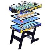 XYZCUP Futbolin 5 En 1 Multifuncional Futbolines Gran TamañO 120 * 60 * 82 CM, Mesa Multijuegos Plegable Adecuado para Uso DoméStico