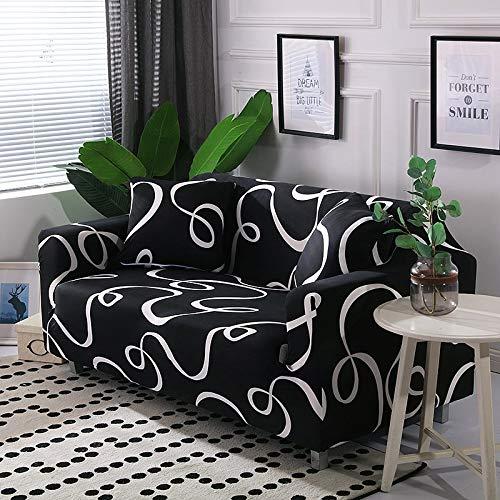 PPOS Geometrische Bedruckte Sofabezüge Für Wohnzimmer Elastische Stretch Schonbezug Ecksofa Sofabezüge A9 2er-Sofa 145-185cm-1pc