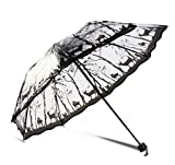 Ombrello Trasparente Soleggiato E Piovoso Pioggia Donna Parasole Antivento Addensare Donne Donne Ragazze A7