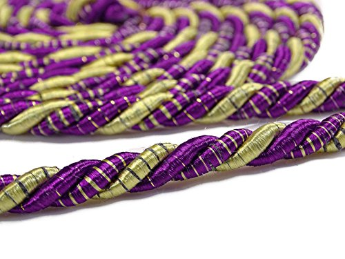 ibaexports Purple Decorative Lip Cord Curtain Upholstery Trim Braided Braid Piping by 1 Yard