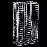 Gaviones - Canasta de jardinera de gaviones de acero galvanizado para soldar para vallas de jardín de paisaje de 1x0.5x0.3m