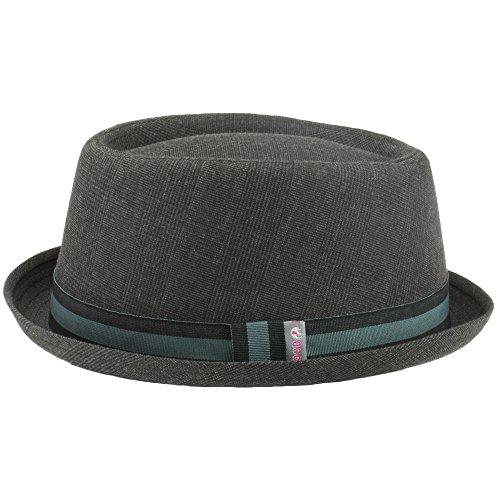 Hawkins Tweed, gestreifter Hut, dunkelgrau., Grau 59 cm