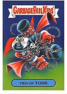 Tied Up Todd trading card Garbage Pail Kids 90s 2019 Cartoons #9b (Spawn Spoof)