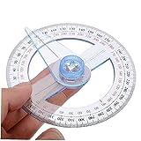 Onsinic 360 Protrator De Plástico Portrable Todos Los Portes Circulares De Metras De Medición De 10 Cm