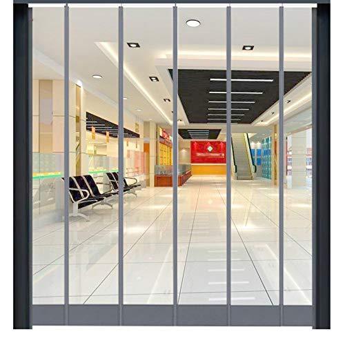 MAHFEI Cortina De Puerta, Mosquitera Magnética para Puertas 2 Mm De Espesor Paneles De Puerta De PVC Transparente A Prueba De Viento Reducción De Ruido para Centros Comerciales