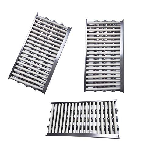 """soldbbq (3-Pack) Replacement Complete Kit - 18 5/8"""" x 9 7/8"""" Radiant Tray & Ceramic Rod for DCS Gas Grill Modles BGA36, BGA48, BGB36, and BGB48,Etc Accessories Cooking Outdoor Tools"""