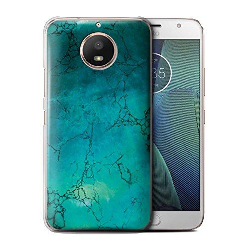 Stuff4® beschermhoes/cover/hoes/hardcase/protetetiv bedrukt met motief edelsteen/birthstone voor Motorola Moto E4 2017 - december/turquoise