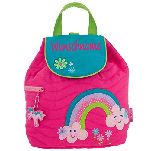 Rucksack Kindergartentasche mit Namen bedruckt Motiv Regenbogen
