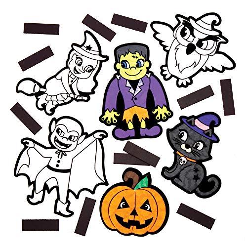 Baker Ross AW878 bunte Magnete, 12 Stück, Gruselige Kunst und Basteln für Halloween, verschiedene Farben