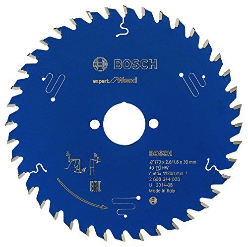 Bosch Professional Kreissägeblatt Expert für Wood (Holz, 170 x 30 x 2,6 mm, 40 Zähne, Zubehör Kreissäge)