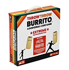 From the creators of Exploding Kittens, Throw Throw Burrito Extreme Outdoor Edition is the world's first dodgeball card game! Now EXTREME! Try to collect matching sets of oversized cards faster than your opponents while simultaneously ducking, dodgin...