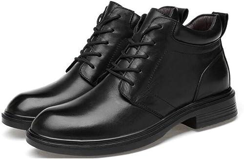 WEGCJU WEGCJU Bottes Martin pour Hommes Chelsea Porte des Chaussures De Randonnée Bottes Militaires Antidérapantes