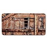 Alfombras De Pasillo Puerta de madera gris Largas Moquetas Largo Entrada Felpudos Patrón 3D Anti-desvanecimiento Anti-Sucio Aplicar para Ventana De Bahia Dormitorio Sala Lavable Cortable 80x150cm