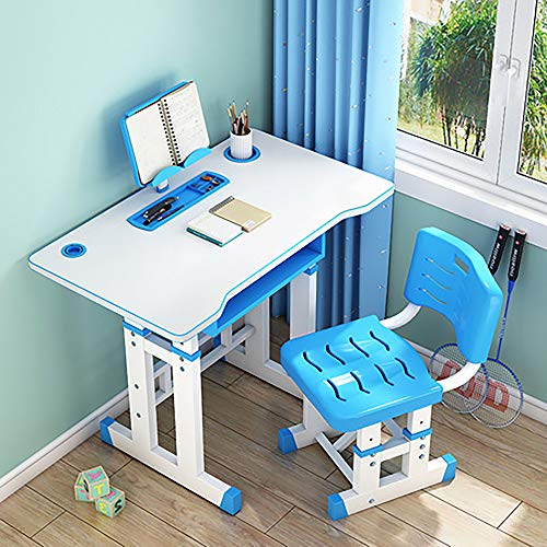 Big Dreamers Kids Desk and Chair Set for Children, Height Adjustable Kids Table and Kids Chair, Home School Desk with Chair and Tablet for Students with Holder Good for Childrens Homeschool Bedroom