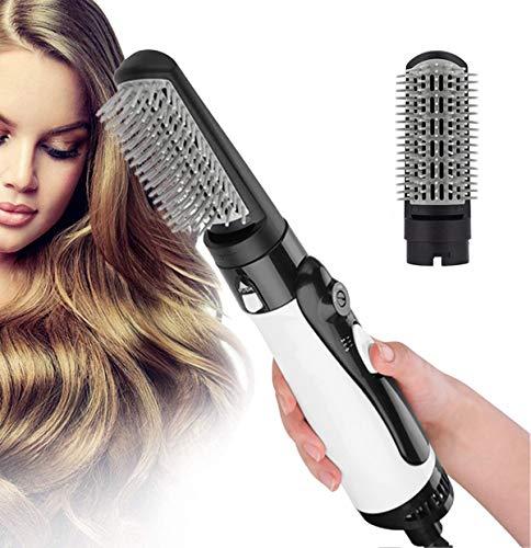 Brosse sèche-Cheveux en Une étape, sèche-Cheveux Multifonctionnel 3 en 1 et volumiseur Brosse à air Chaud Sèche-Cheveux légers Lisseur Curl Brosse à Cheveux pour Lisser, boucler,Blanc
