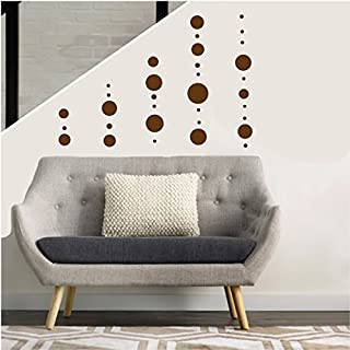 Brown Polka Dot Wall Decals Stickers Dot Circle Nursery or Childrens Wall Decor in a Choice of Colors (Brown Dot Wall Decals)