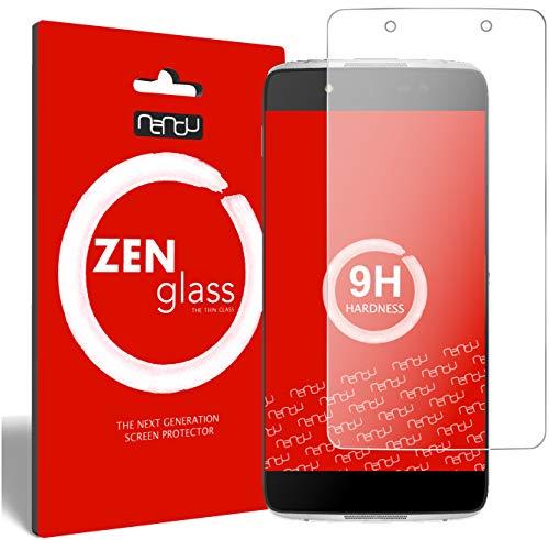 ZenGlass [2 Stück Flexible Glas-Folie kompatibel mit Alcatel Idol 4 Panzerfolie I Bildschirm-Schutzfolie 9H