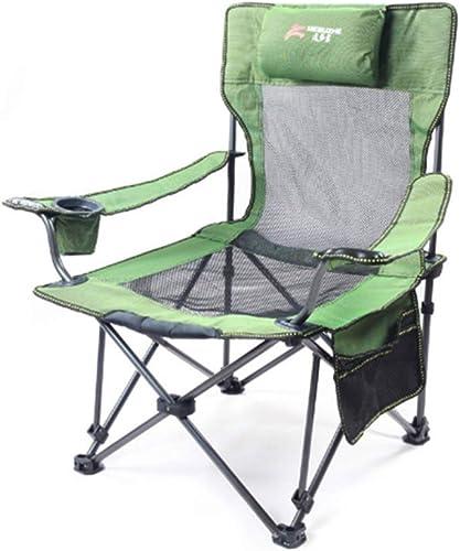 HARBERIDE Chaise Pliante Légère De Chaise De Camping Portative pour La Randonnée Pédestre, Festival Chaises De Camp Haute,vert
