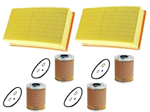 for BMW 318 (1991-02/94) oil air filters KIT (6pcs) MAHLE