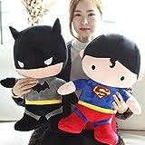 JMHomeDecor Poupées en Peluche 2 Pièces / 50 Cm Superman Batman Drôle en Peluche Doux en Peluche Géant Jouet Joli Bébé pour Enfants Enfants Cadeau d'anniversaire