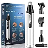 Ear and Nose Hair Trimmer for Men,Professional USB Rechargeable Nostril Nasal Hair Vacuum Cleaning...