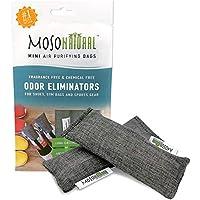 Moso Natural Mini-Bolsas de purificadora de Aire - Desodorante de Calzado y eliminador de Malos olores (Dos Bolsas por un Paquete) Negro