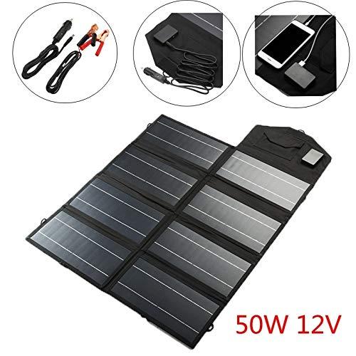 NOBRAND Los Paneles solares 50W 12V USB portátil